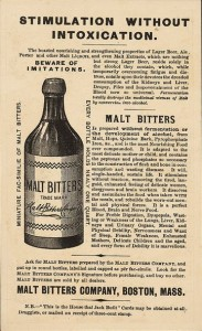 Malt Bitters, 19th Centuery Trade Card, Boston: Forbes Co., Boston Public Library
