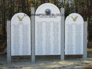 2015 World War 2 Veteran's Memorial in Merrimack's Veteran's Park.