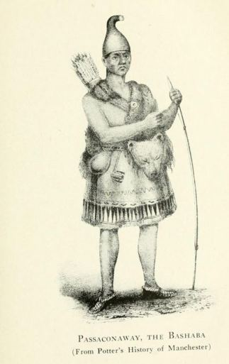 "Passaconaway, the Bashaba from ""Passaconaway in the White Mountains,"" by Charles Edward Beals Jr., Boston, 1916, Richard G. Badger Printer."