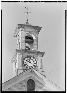 DETAIL OF CUPOLA - South Meeting House, Meeting House Hill, facing Marcy Street, Portsmouth, Rockingham Co., NH; HABS, Library of Congress.