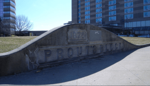 Prout Block sign Manchester NH