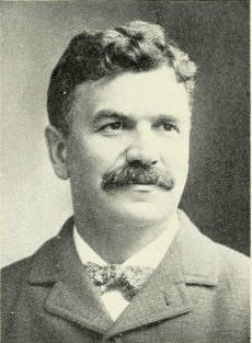 "Photo of Sam Walter Foss from book, ""Reminiscences of Candia,"" by Wilson Palmer, Cambridge MA, Riverside Press; 1905; page 238"