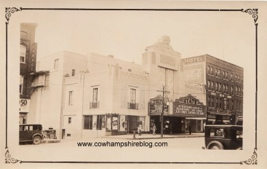 August 1931 photograph of the State Theatre, Elm Street, Manchester NH. Photograph property of Janice Brown.
