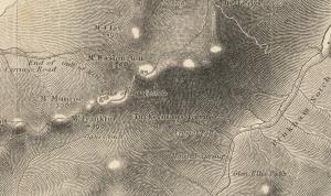 Boardman Map of 1858 showing Tuckerman Ravine.