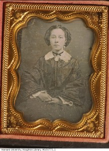 """M. Knox with hands folded in lap""; daguerreotype c 1840-1860; part of the Harrison D. Horblit Collection of Early Photography; Harvard University, Houghton Library"