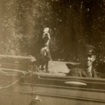 Charles A Manning chauffeur with Mrs. Mannings dog-c