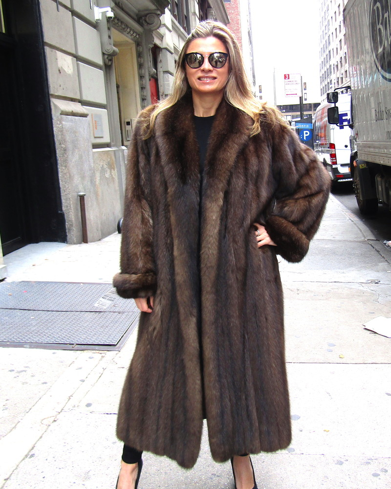 Just Reduced  PreOwned Russian Sable Coat size 10