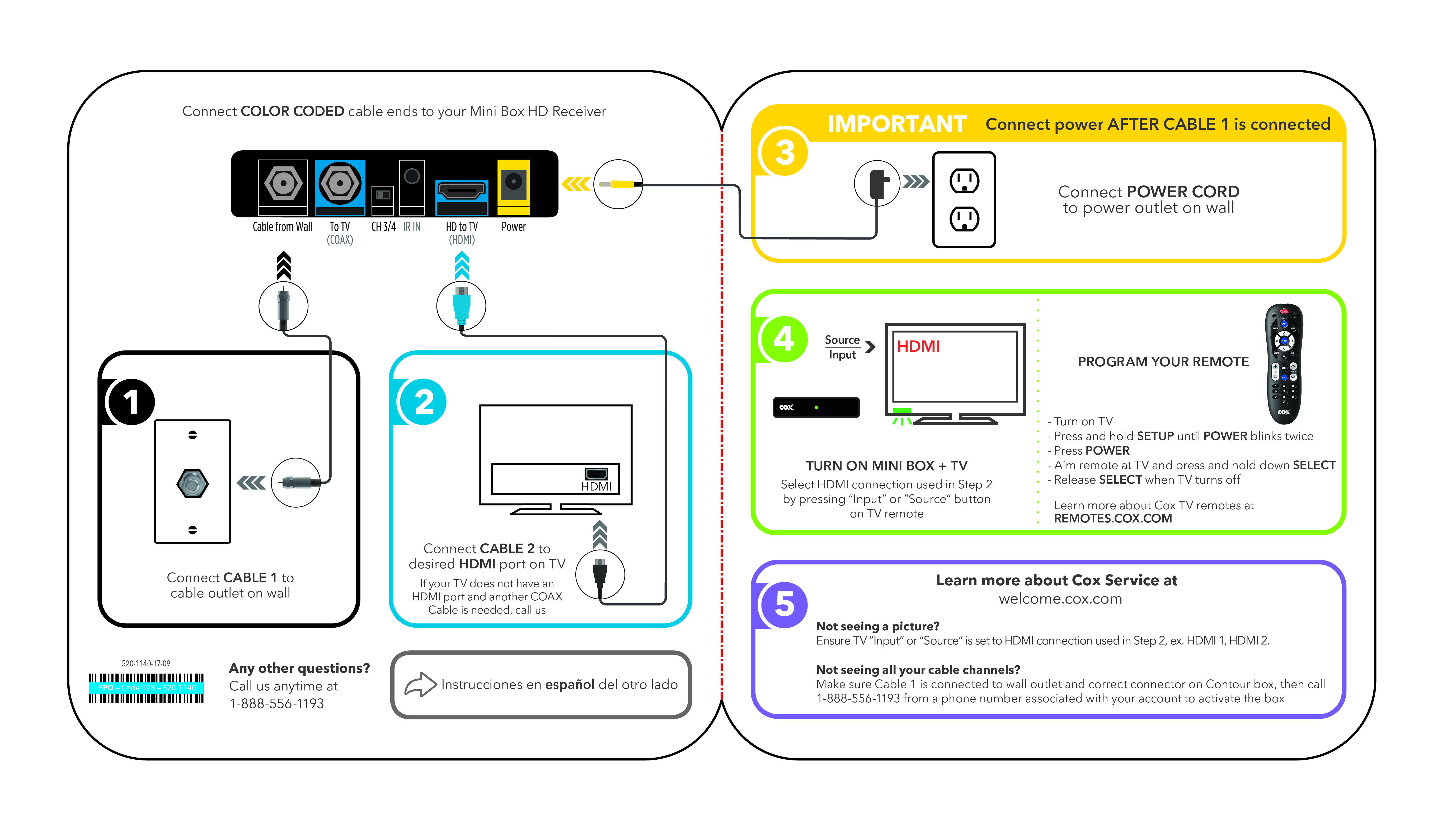 hdmi setup diagram do it yourself house wiring cox self installation kits and user guides tv equipment install
