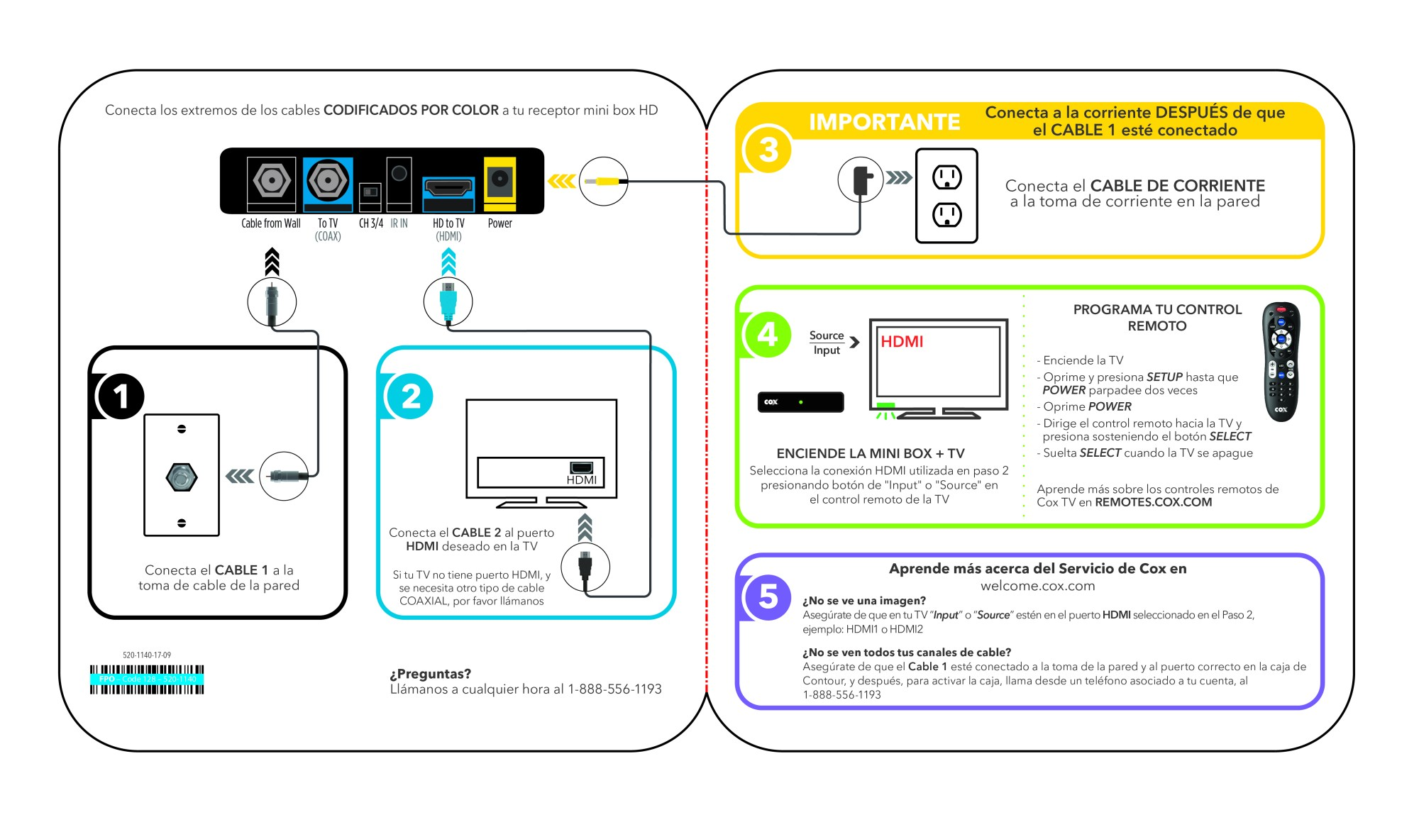 hight resolution of cox self installation kits and user guides hd dta to hdmi connections diagrams