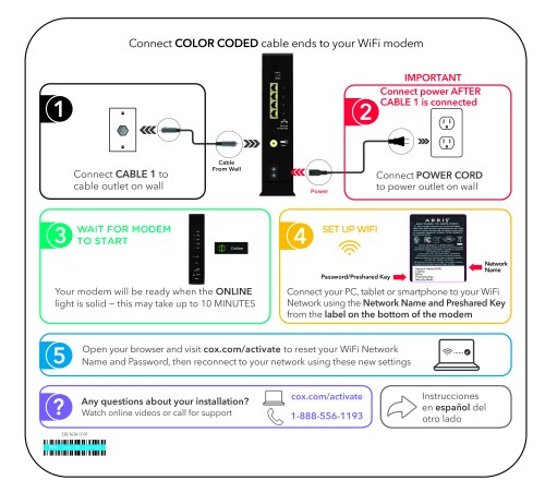small resolution of cox self installation kits and user guides wiring a house for internet tv and telephone free printable