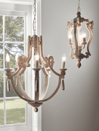 Chandeliers,Vintage & Modern Glass & Wooden Chandelier ...