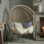 Round Rattan Cocoon Chair