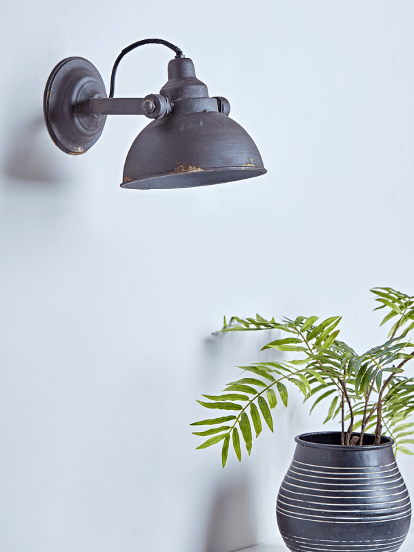 Aged Industrial Wall Light