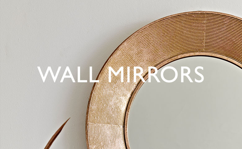 mirrors large wooden copper