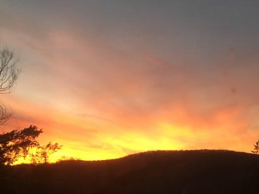 Sunset, February 13, 2018