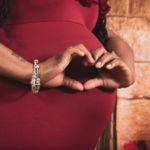 maternity shoot heart