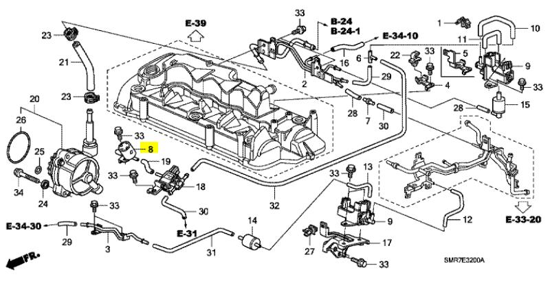 Genuine Honda Civic 2.2 Diesel Frequency Solenoid Valve