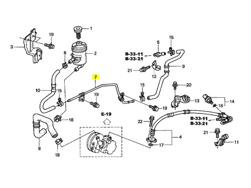 Genuine Honda CR-V 2.0 Petrol Power Steering Pipe 2002