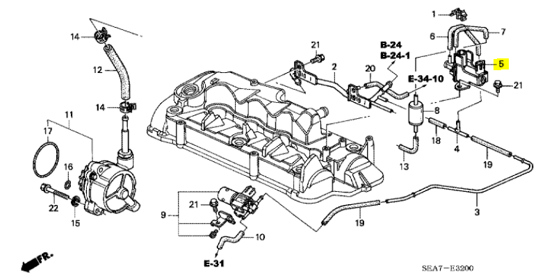 Genuine Honda CR-V 2.2 Diesel EVR Valve 2007-2012