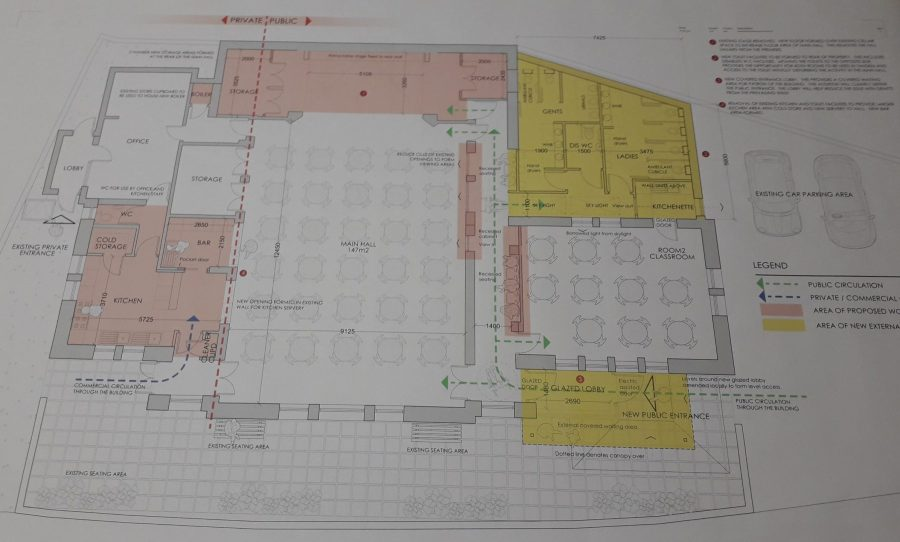 Picture of the Ground Plan with changes and additionsn
