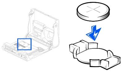 Battery: Dell OptiPlex GX260 Service Manual