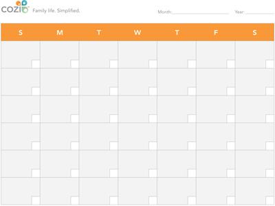 Printable Calendar - Designed for Families