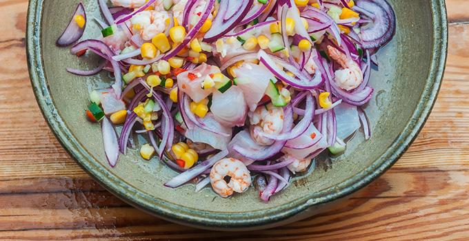 Receita: Ceviche peruano de peixe branco