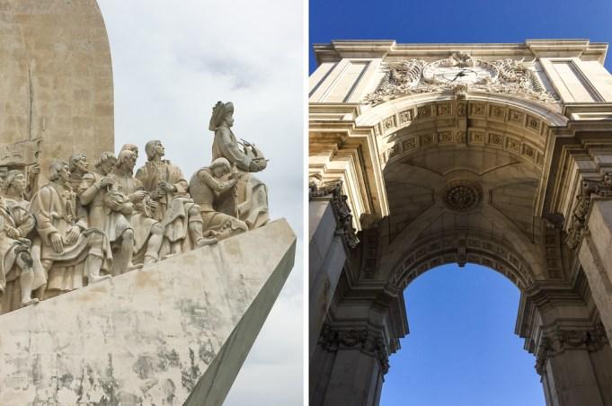 Monumentos em Lisboa: Padrão dos Descobrimentos e o Arco da Rua Augusta