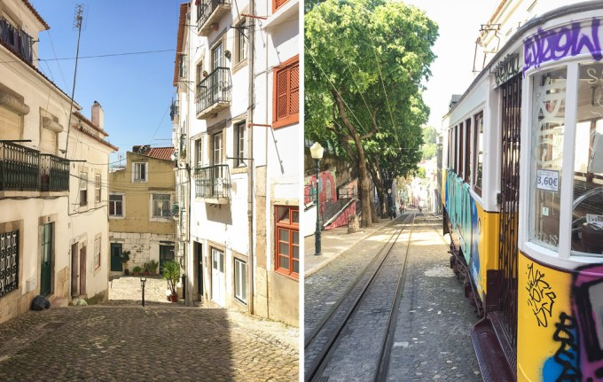 Lisboa — Alfama e a Calçada da Glória