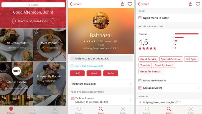 App Open Table para reservas de restaurantes em Nova York | Cozinha do João