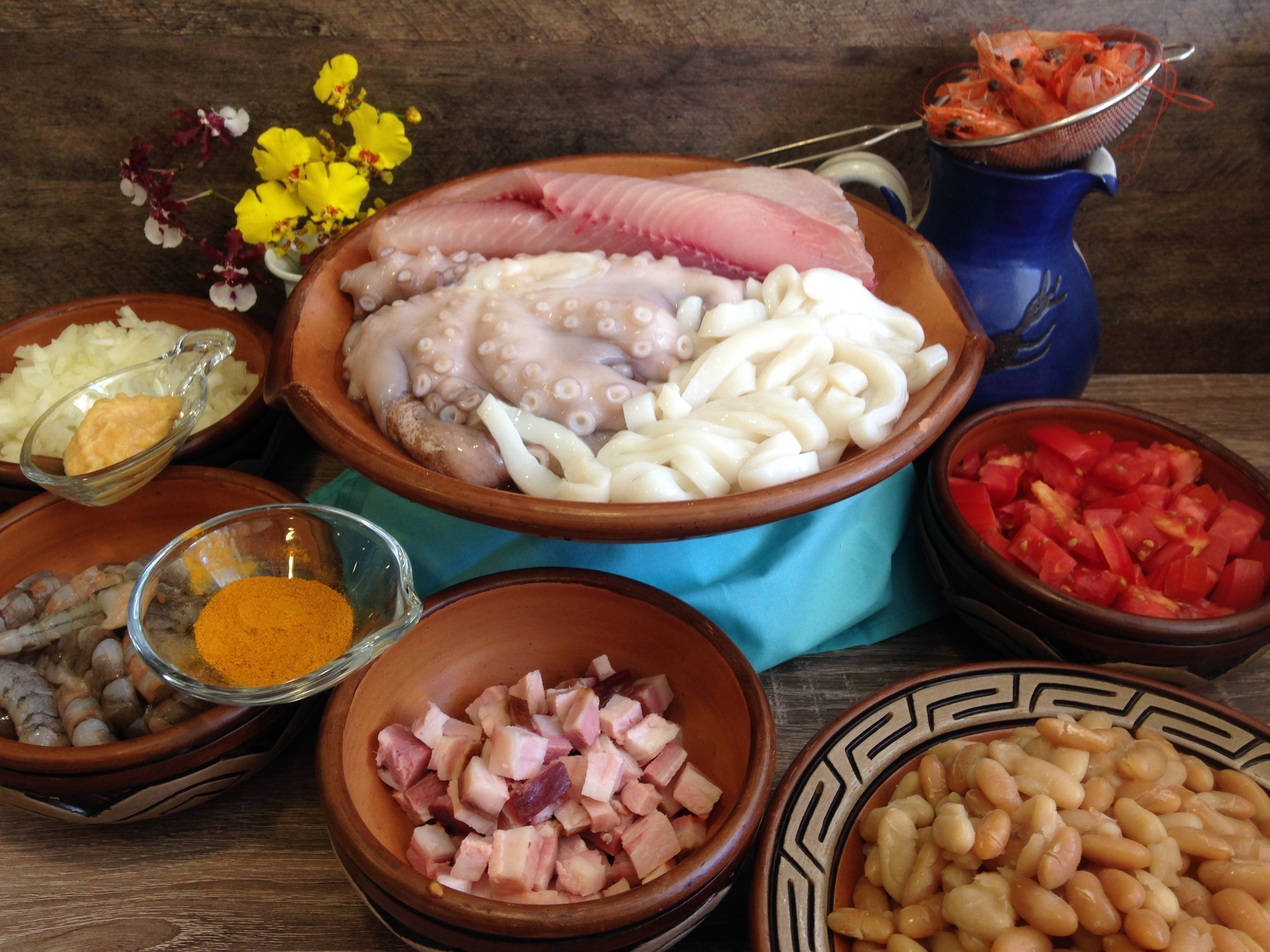 Feijoada de Frutos do Mar: ingredientes