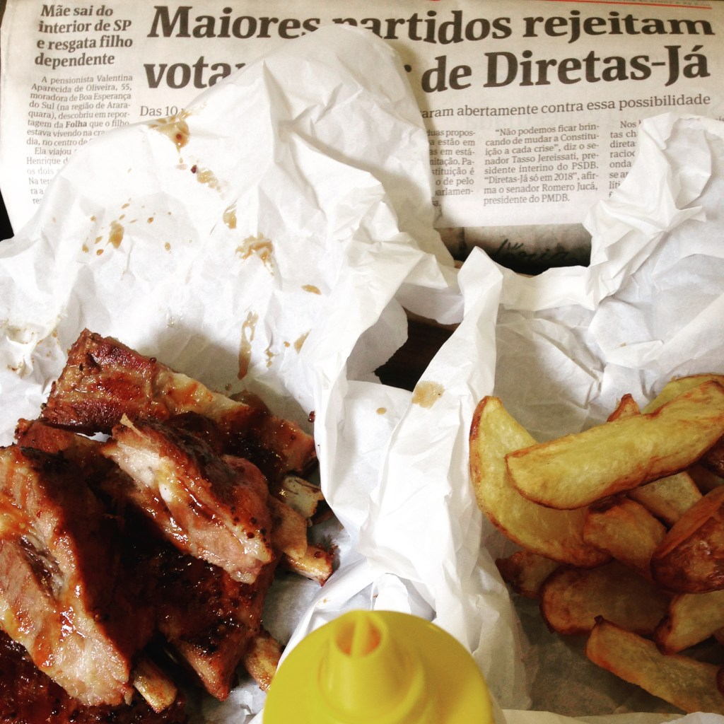 As costelinhas do Freddy's BBQ Joint em House of Cards