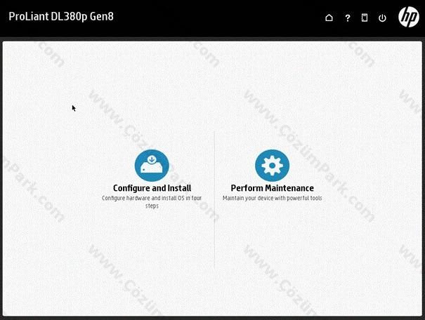 Donanım : HP Proliant DL380 GEN8 PSP ile Server 2012 Kurulumu