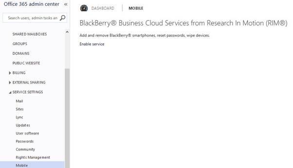Cloud Computing : Office 365 Admin Panel