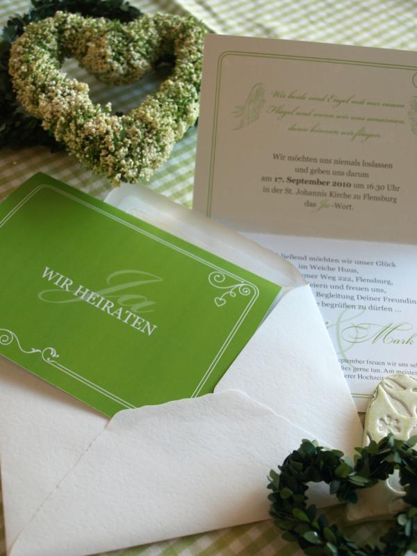 Hochzeitseinladungen Daniela und Mark