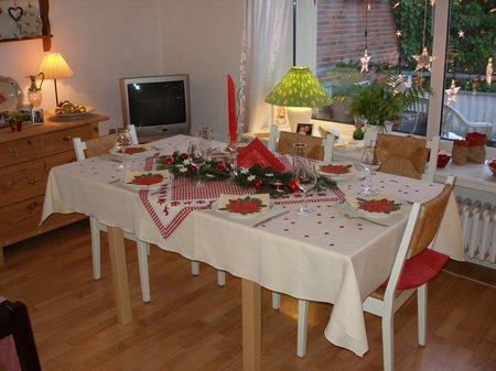 Unser Tisch zu Weihnachten