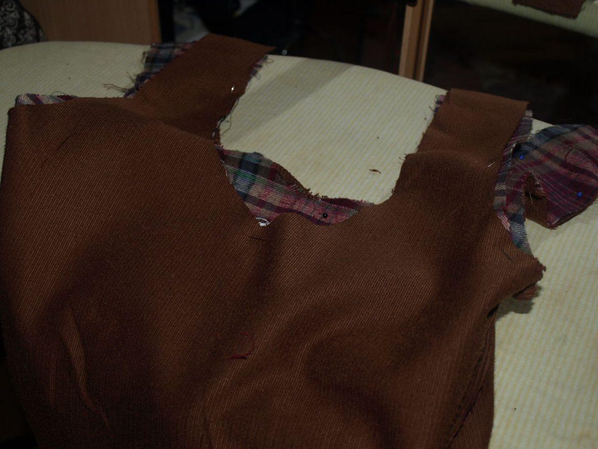 Taschenträger abgesteckt