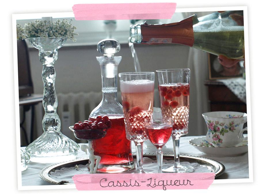 cassis-liqueur - Johannisbeeren-Likör selber machen. Foto-Anleitung und Rezept