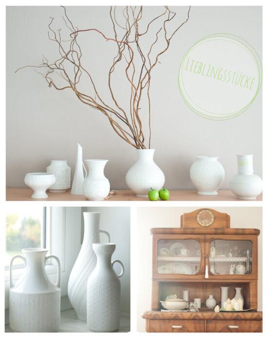 Sammlung wunderschöner weisser Vasen - Bisquitporzellan