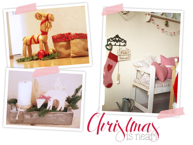 Christmas is near. Selbstgemachte Advents- und Weihnachtsdeko. DIY Adventskranz