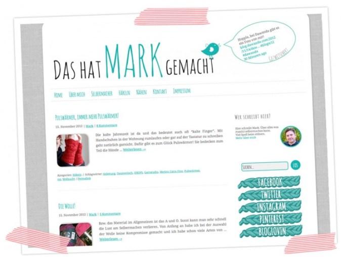 Dass der Mark nun ein eigenes Blog hat. Da wird gehäkelt und genäht und gewerkelt. Was Männer halt so machen ;-)