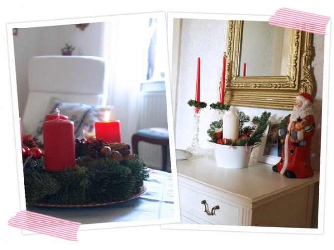 Adventsdeko bei uns Zuhause. Selbstgemachte Advents- und Weihnachtsdeko. DIY Adventskranz