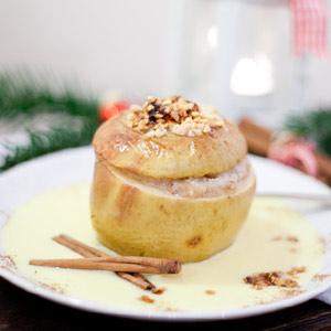 Rezept für Bratäpfel mit Marzipanfüllung und Zimtnote - cozy & cuddly Adventskalender