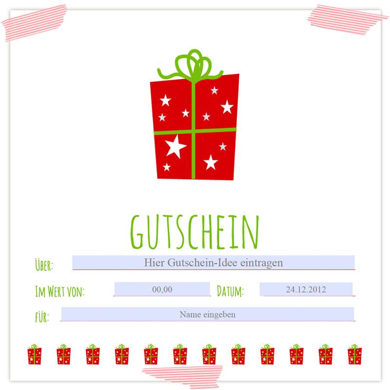Last-Minute-Geschenkverpackung für einen Gutschein in der Dose ...