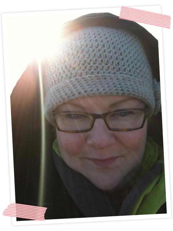 Nochmal mit Cooper raus und ein Bild mit mir und der Sonne gemacht.