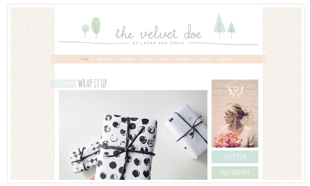 the velvet doe ist ein wunderschönes Amerikanisches Blog, dass ich vor nicht all zu langer ziet bei Pinterest gefunden habe