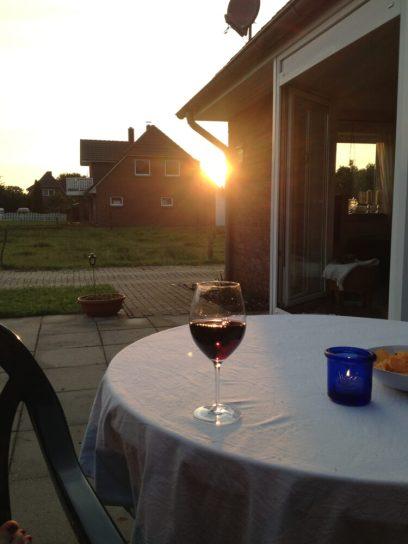 Ein Gläschen Rotwein nach getaner Arbeit