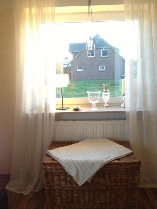Fenster im  Wohnzimmer nach Westen