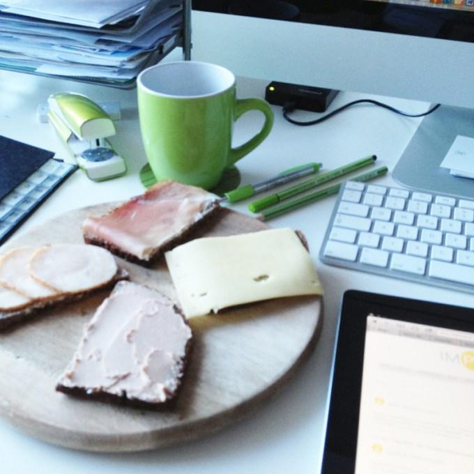 Abendbrot im Büro