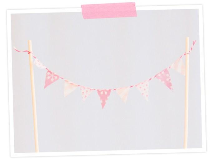 DIY-Idee: Wimpelkette für den Kuchen mit Maskingtape bzw. Washi